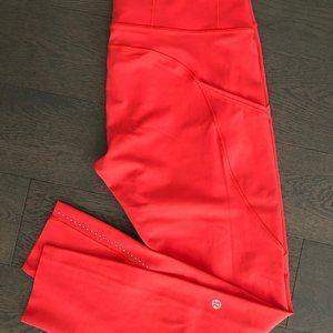 Lululemon hi-waisted leggings Coral size 10